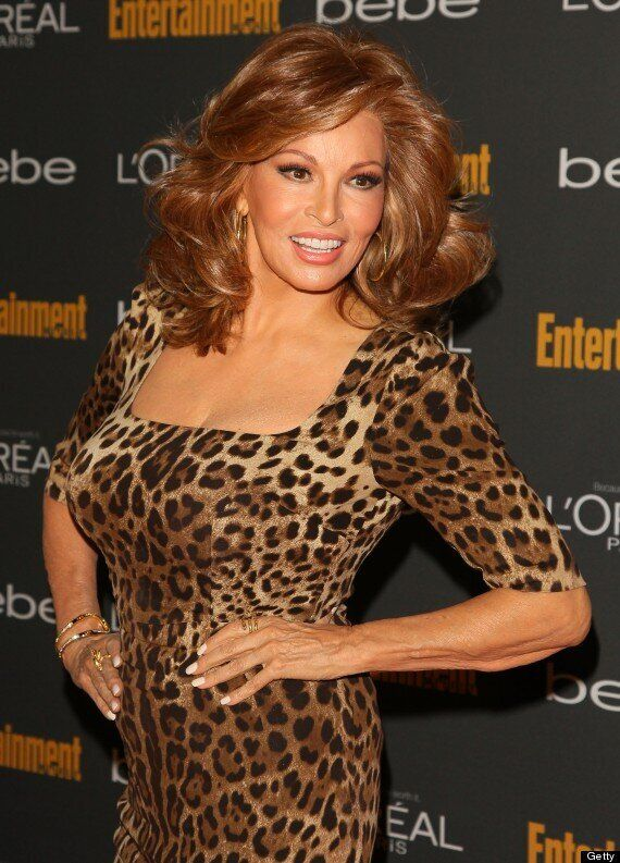 Raquel Welch, 73, Looks Half Her Age At Pre-Emmys Party In Stunning Leopard Print Dress