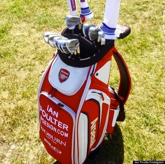 Arsenal Fan Ian Poulter Gets Gooner Send-Off For The Open