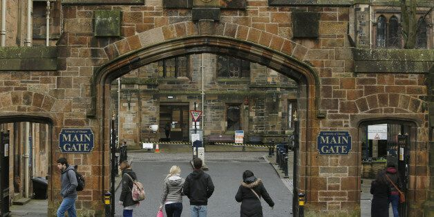 General view of the University of Glasgow where whistleblower Edward Snowden has agreed to stand as a...