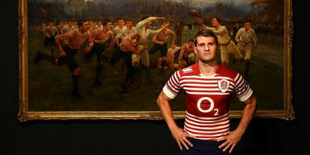 LONDON, ENGLAND - SEPTEMBER 23: Richard Wigglesworth poses during the England Alternate Kit Launch at...
