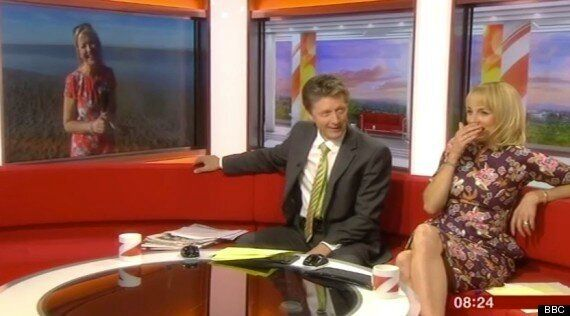 BBC Weather Presenter Carol Kirkwood Is Upstaged By A Urinating Dog
