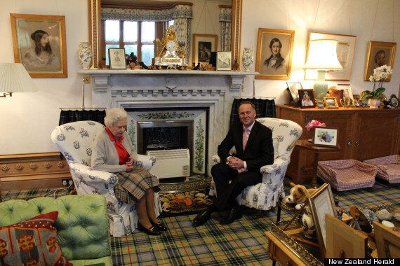 Queen Photographed With New Zealand Prime Minister John Key At Balmoral
