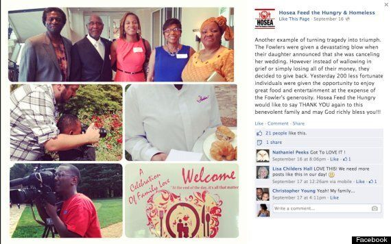 Family Donates Cancelled Wedding Reception To Homeless Families In