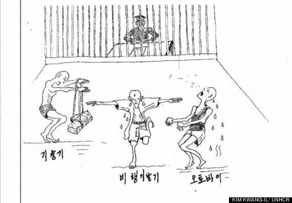 North Korean Defector Sketches Show Torture, Starvation & Death In Dictatorship's Prisons