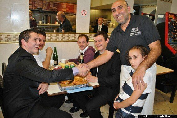Boston 'Famous Five' Bike Rack Boys Rewarded With Kebabs And Champagne By