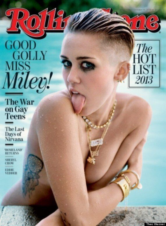 Miley Cyrus Twerks With A Monkey And Red Monster In Vegas, Poses Topless For Rolling