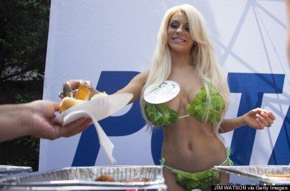 Courtney Stodden Wears Lettuce Leaf Bikini To Promote Vegetarianism On Behalf Of PETA