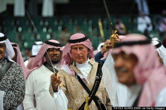 Prince Charles Criticised For Taking Part In Saudi Arabian Sword Dance (PICTURES)