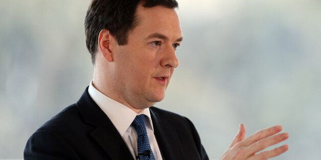 Chancellor of the Exchequer George Osborne, gives a speech in Edinburgh, Scotland, about the forthcoming...
