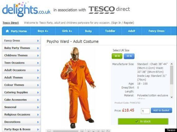 Asda And Tesco Pull 'Mental Patient' And 'Psycho Ward' Halloween Costumes
