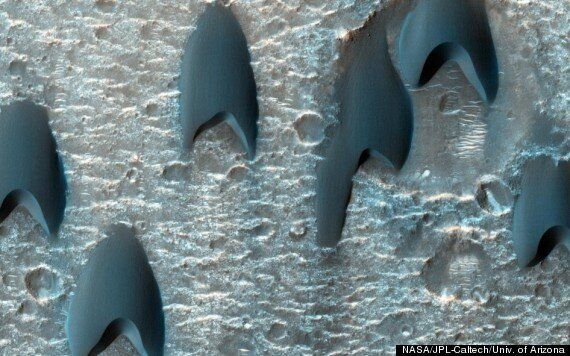 Sand Dunes On Mars Photographed By Nasa MRO Look Like 70's Psychedelic