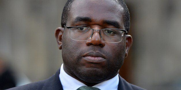 Labour Party member of parliament for Tottenham, David Lammy, is pictured following a meeting with the...