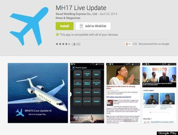 MH17 News Apps Flood Google Play - Some Months BEFORE The
