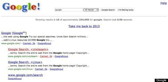 Google Takes You Back To 1998 With 15th Birthday Easter