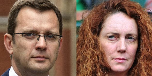 A combination of pictures shows former News of the World editor and Downing Street communications chief,...