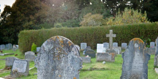 Headstones in Cemetery, Chulmleigh, Devon,