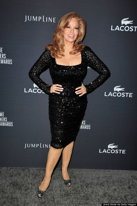 Raquel Welch, 73, Looks Stunning In Figure-Hugging LBD At Costume Designers Guild Awards