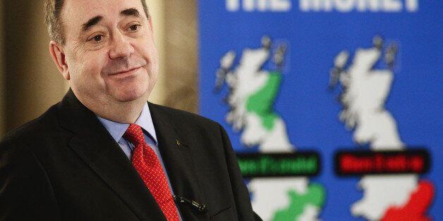 ABERDEEN, SCOTLAND - FEBRUARY 17: Alex Salmond, Scotlands First Minister addresses a Business for Scotland...
