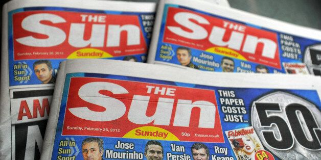The first copies of the new Sun on Sunday newspaper roll off the presses at the News Printers, in Broxbourne