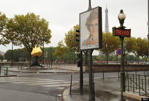 Princess Diana Film Advertised At Mouth Of Pont De L'Alma Tunnel In Paris, Where She Was Killed