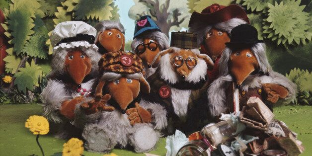 BBC children's television characters from Wimbledon Common, 'The Wombles', 1974. (Photo by Tony Evans/Getty