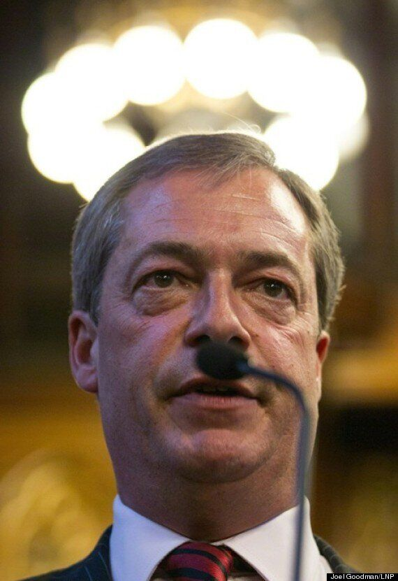 Ukip's Nigel Farage Sports 'Hitler Moustache'... Again