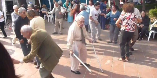 Who Needs Crutches?! Old Man Throws Away His Canes To Let Loose On The Dance