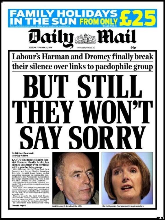 Harriet Harman 'Regrets' Links With Paedophile Rights