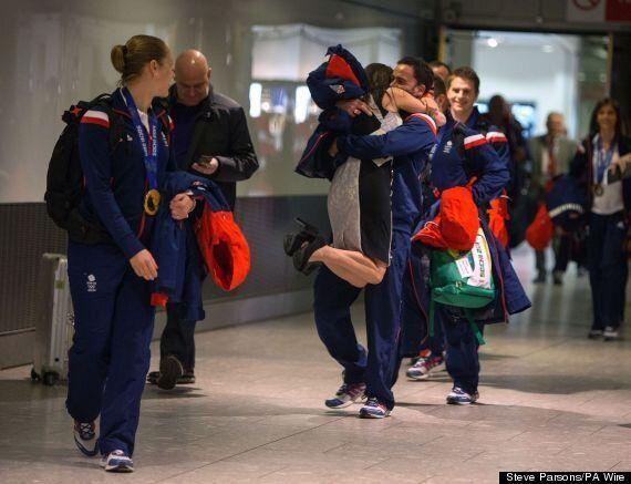 Team GB Return Home From Sochi Winter Olympics