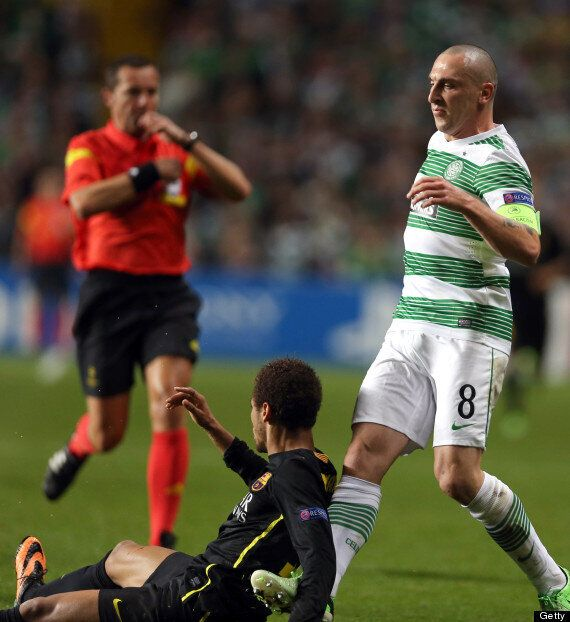 Neil Lennon Accuses Neymar Of Play-Acting Over Scott Brown Red