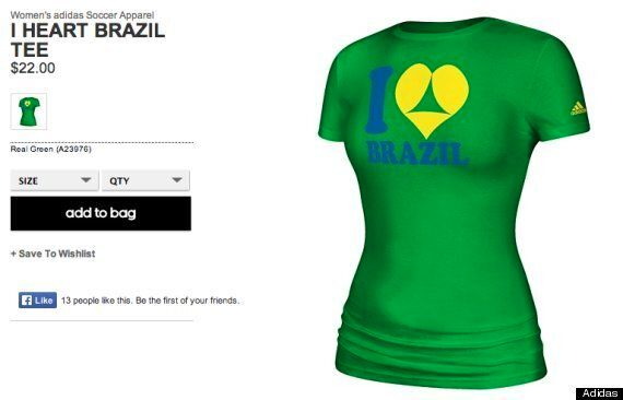 Racy Adidas T-Shirts Pulled After Complaints From Brazil