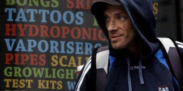 A man visits a legal high shop in Dublin,