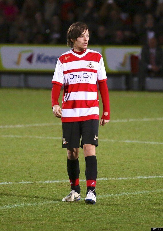 One Direction's Louis Tomlinson Makes Doncaster Debut