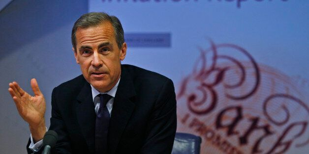 Governor of the Bank of England Mark Carney during a news conference to present the UK Quarterly Inflation...