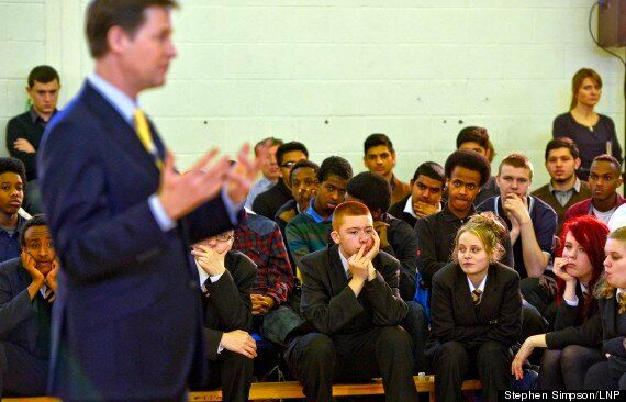 Nick Clegg Gets Middle Finger From Student While Giving Speech At