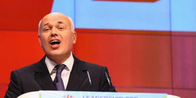 MANCHESTER, ENGLAND - OCTOBER 03: Iain Duncan Smith, Secretary of State for Work and Pensions delivers...