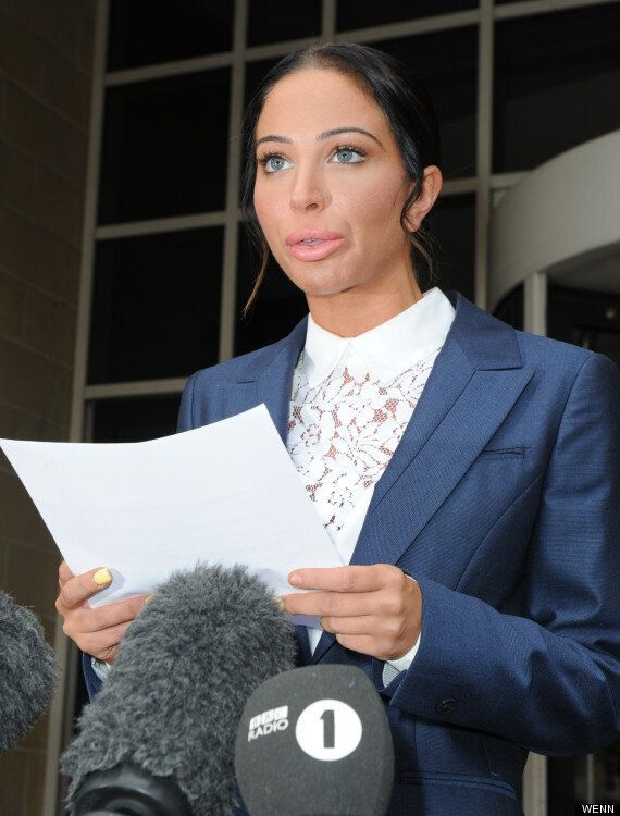 Tulisa Does Her Best Donald Duck Impression Outside Court After Being Found Guilty Of Assault