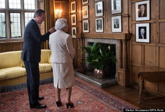 Queen Visits David Cameron For Lunch At Chequers