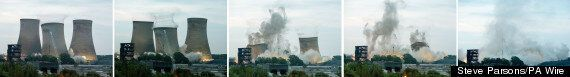 Didcot Power Station Towers Blown Up In Controlled