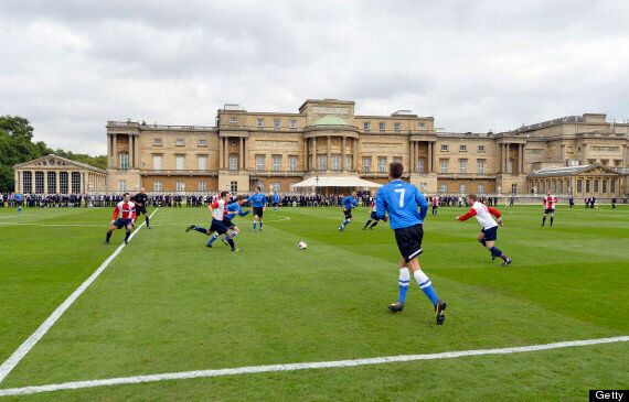 Buckingham Palace Stages Civil Service Vs Polytechnic Football Match