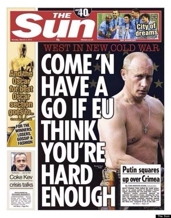 The Sun Features Topless Vladimir Putin On Front Page Amid Ukraine