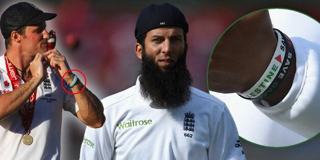 SOUTHAMPTON, ENGLAND - JULY 28: England player Moeen Ali looks on whilst wearing his cap back to front...