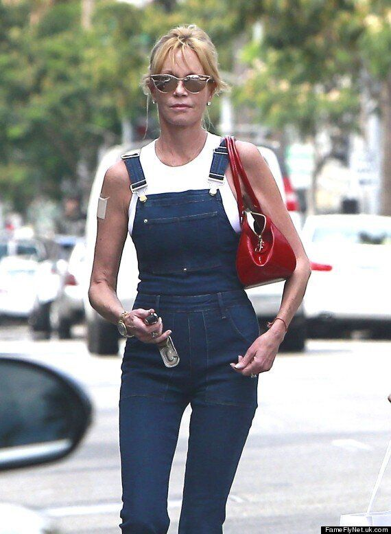 Melanie Griffith Covers Antonio Banderas Tattoo With 'Mel' Bandage Following Divorce Announcement