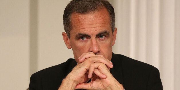 Mark Carney, Governor of the Bank of England before giving his speech at the Lord Mayor's Dinner to the...