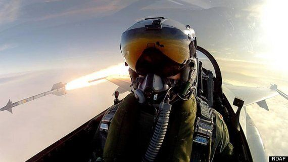 Danish Fighter Pilot Takes Selfie While Launching Air-To-Air