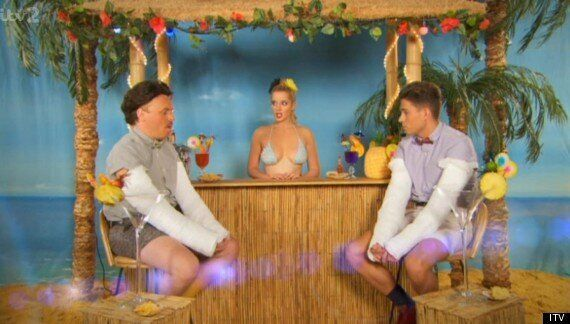 Helen Flanagan Strips To Her Bikini On 'Celebrity Juice'
