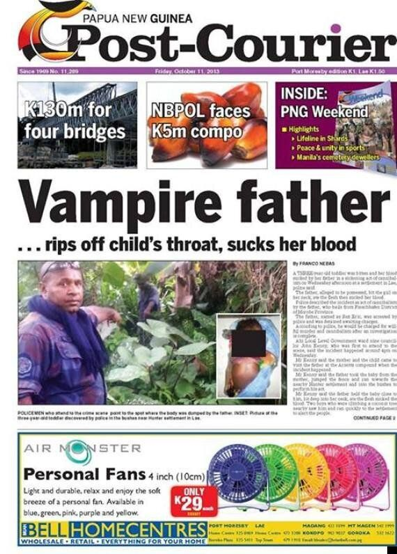 'Vampire Cannibal' Father Rex Eric Arrested On Suspicion Of Biting Daughter 3, To Death & Drinking Her