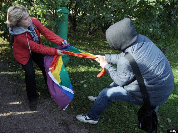 Russian Gay Rights Demonstrators Clash With Religious Activists In St Petersburg