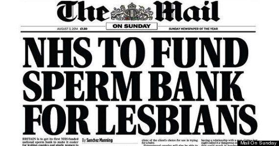Mail On Sunday Sperm Bank For Lesbians Story Sparks Glorious #AddForLesbiansToAHeadline On