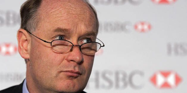 LONDON, United Kingdom: Douglas Flint, the Group Finance Director of HSBC Holdings plc attends a press...